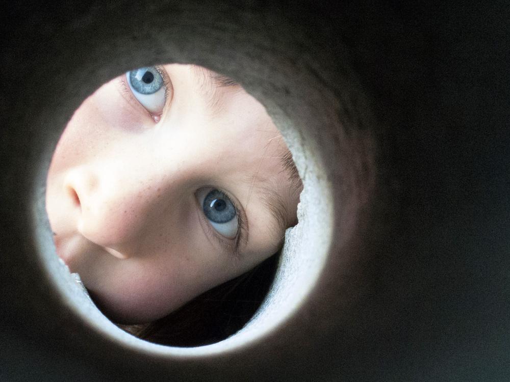 Through the hole