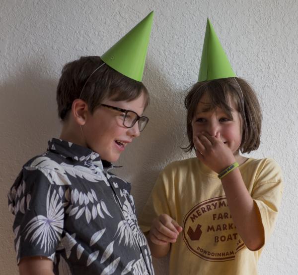 Happy partygoers