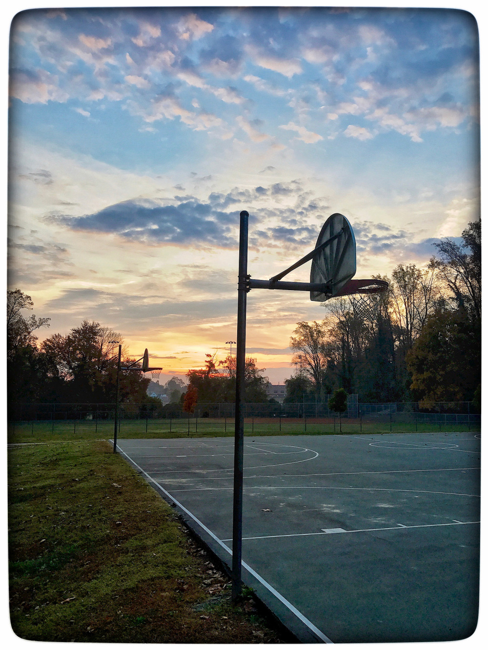 The court in morning