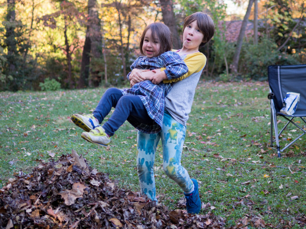 Leaf piles are fun!