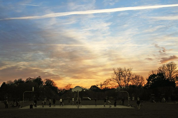 sports at sunset