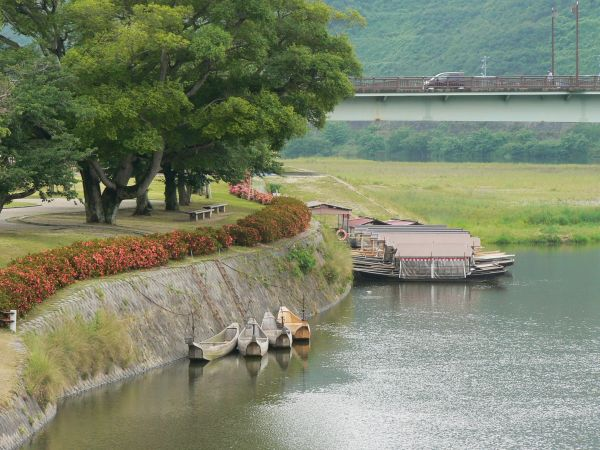 River boats at Iwakuni