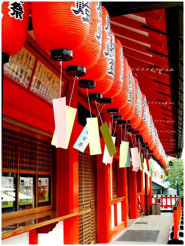 Red lanterns at Fushimi Inari in Kyoto