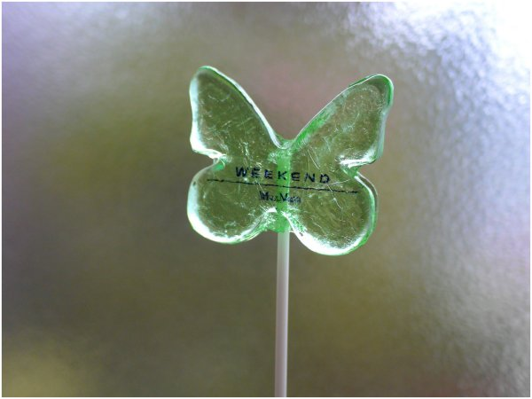 Butterfly lollipop for store promotion