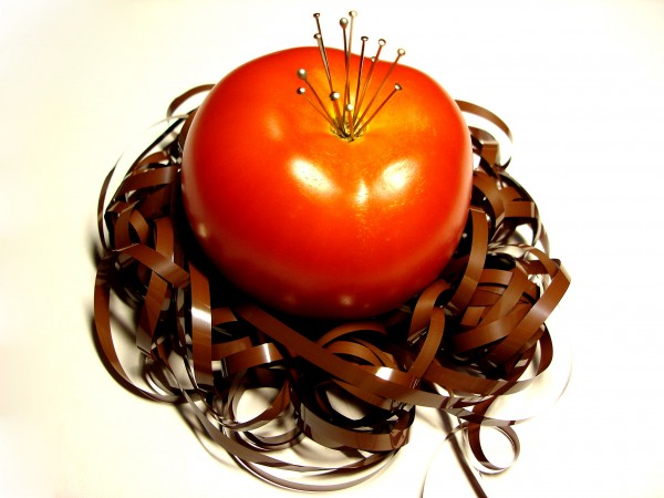 This Is one Special Tomato In a Nest..