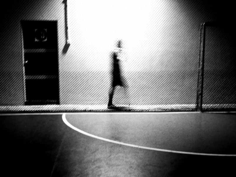 people walking at a indoor futsal centre
