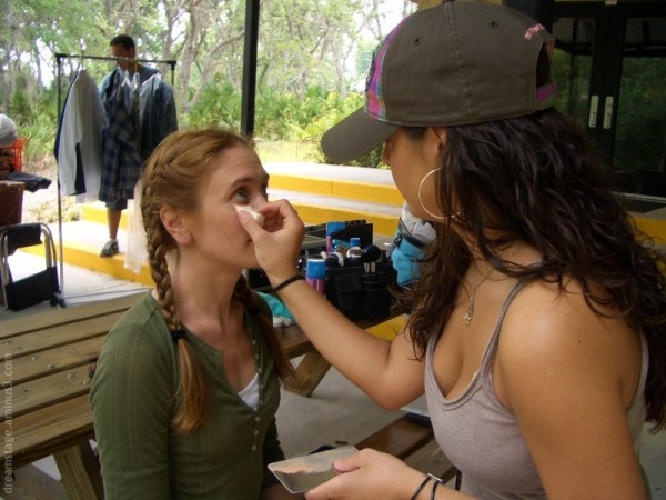 on set makeup