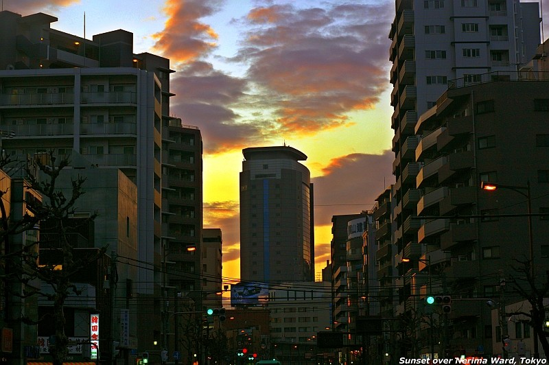 Sunset over Nerima