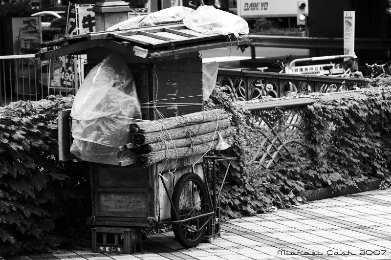 "Roadside ""yatai"" food stand in Tokyo"