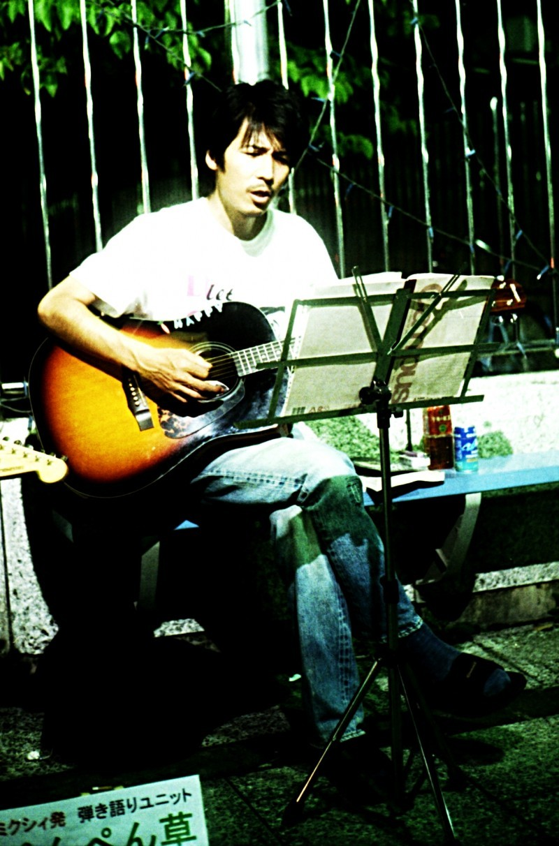 Japanese busker in Kiryu City