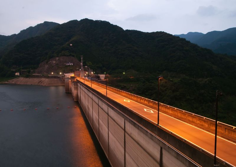 Kusaki Dam at Twilight