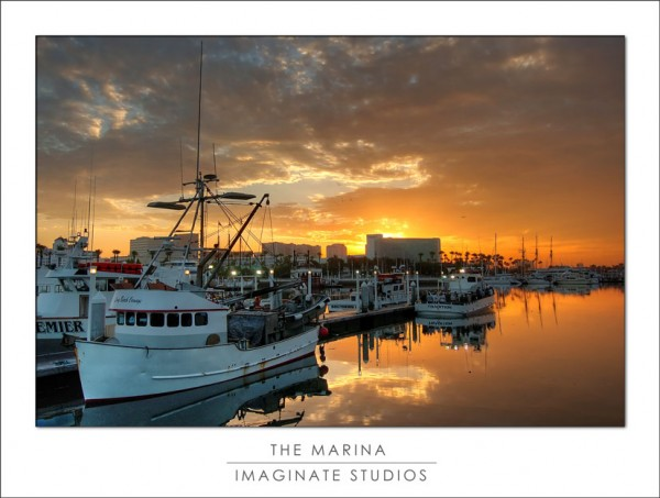 The Long Beach Marina at Dawn