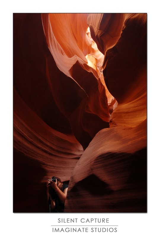 a photographer captures the light in the canyon