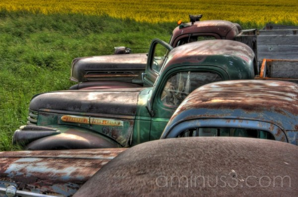 HDR truck old antique