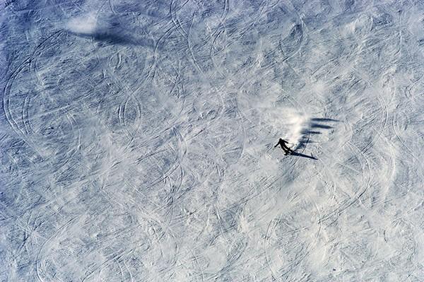 mountains, tignes, benno white, alps, skiier