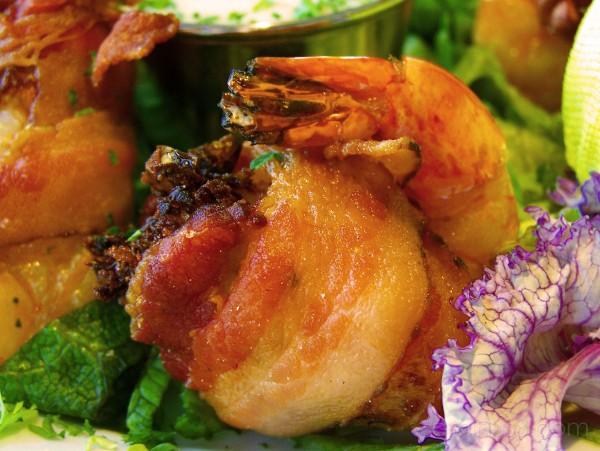 Bacon Wrapped Stuffed Shrimp