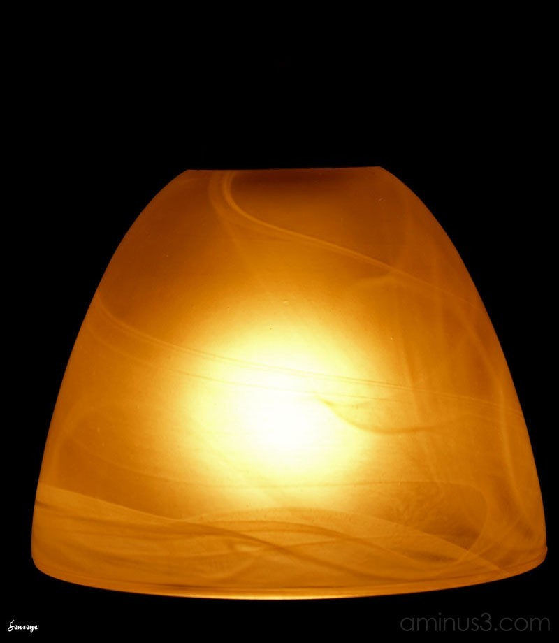 Abstract Light Frosted Glass Shade