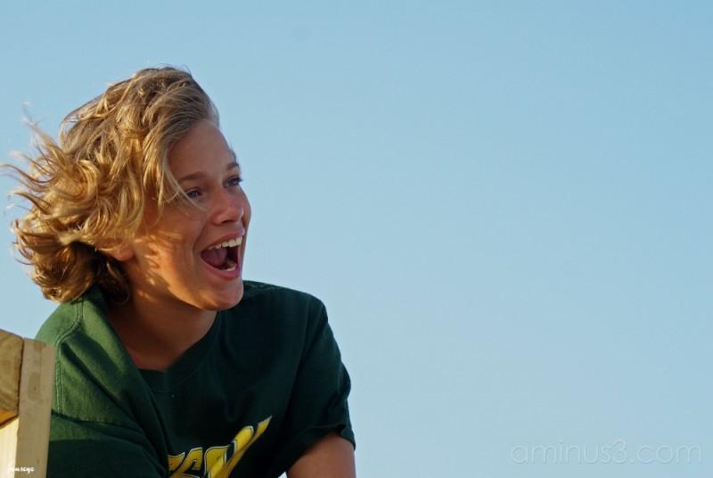Happy Teenager Tybee Island