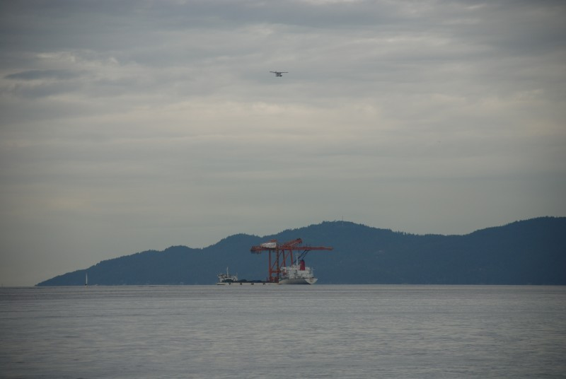 crane and plane