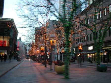 Downtown Denver at Christmas time