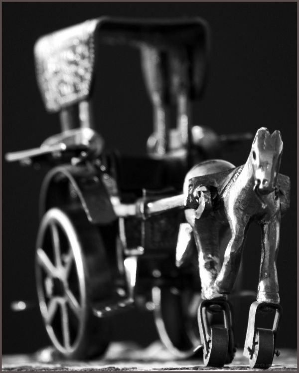 horse cart on wheels