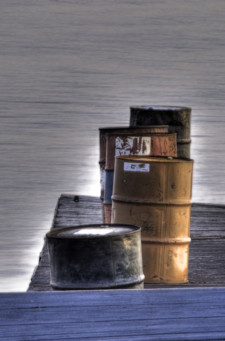 Barrels on Pier