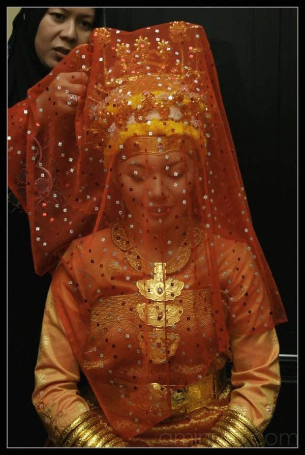 A Malay Bride with her costume
