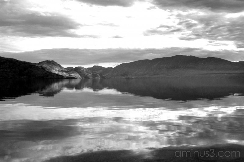 Lake in the Valley in B & W