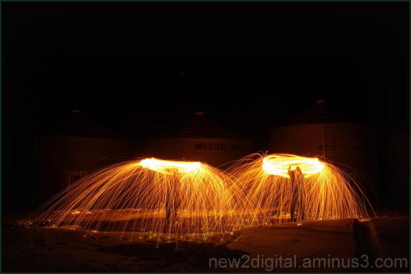 Spinning Steel Wool 2/3