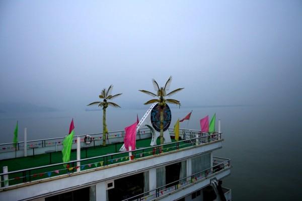 Mahjong gambling boat on Yangtze