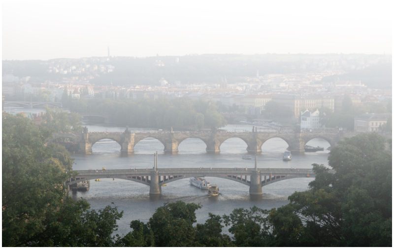 Bridges over the Vitava - Prague