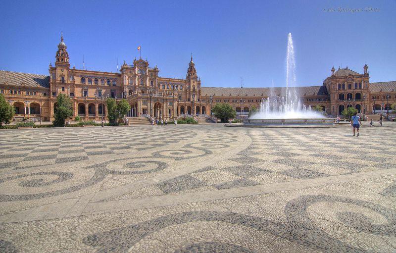 España Spain Sevilla Plaza de España