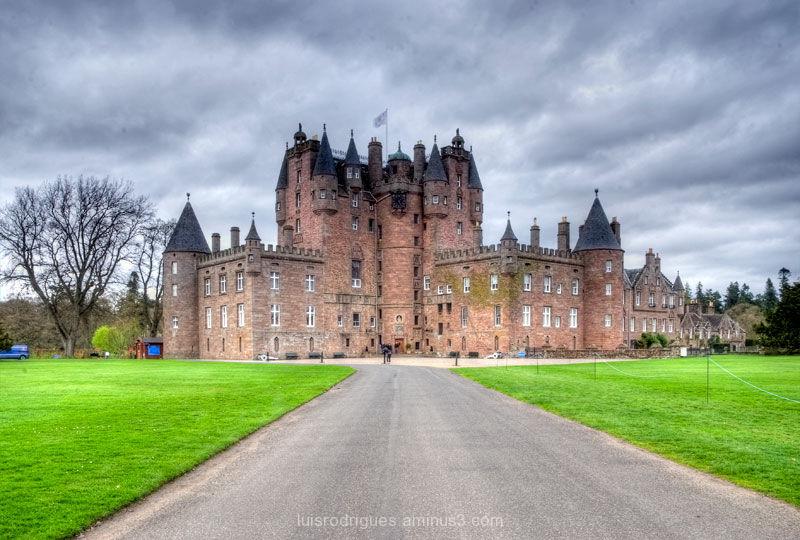 Scotland Fields Glamis Castle