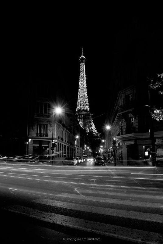 Eiffel Tower Night Paris