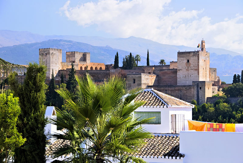 Views of Alhambra Granada Spain
