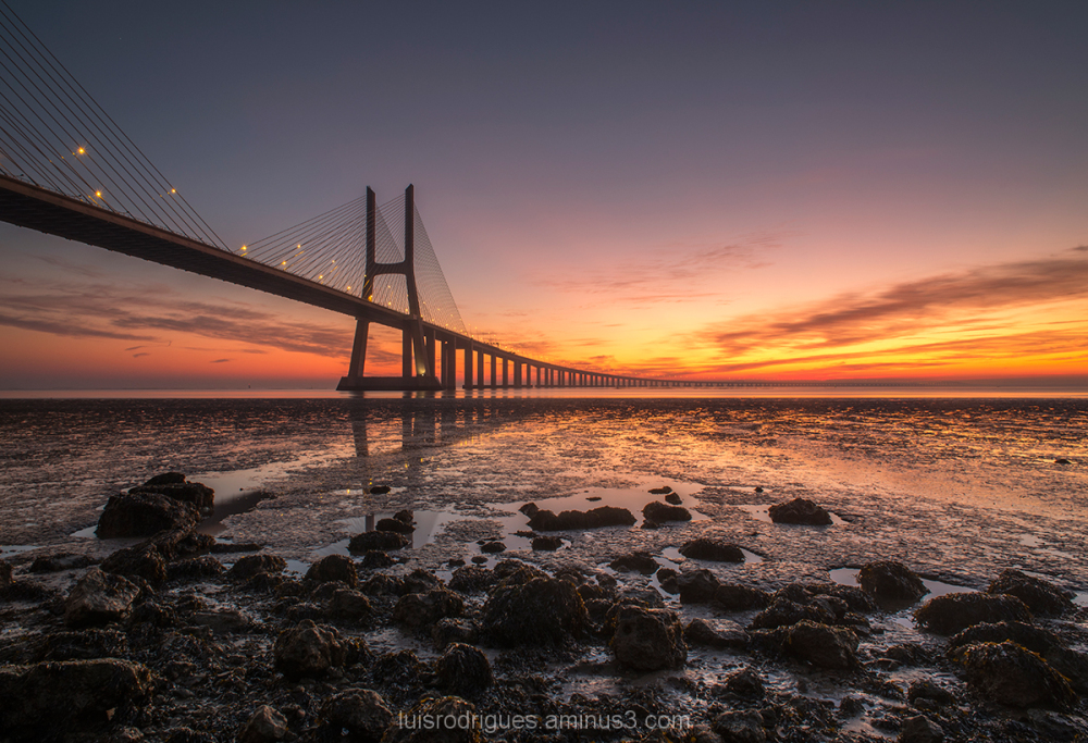 Lisbon Vasco da Gama Portugal Sunrise