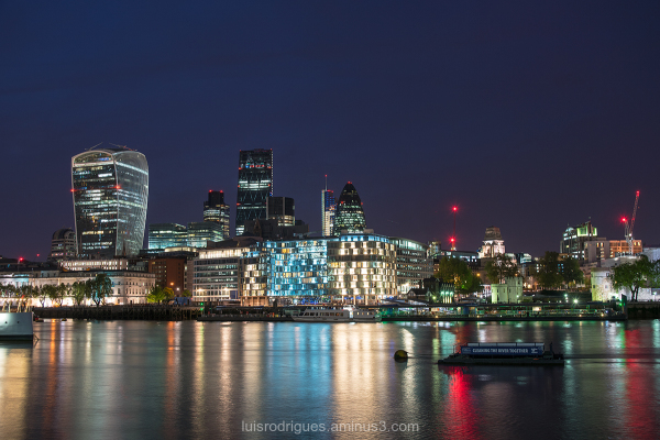 london city lights
