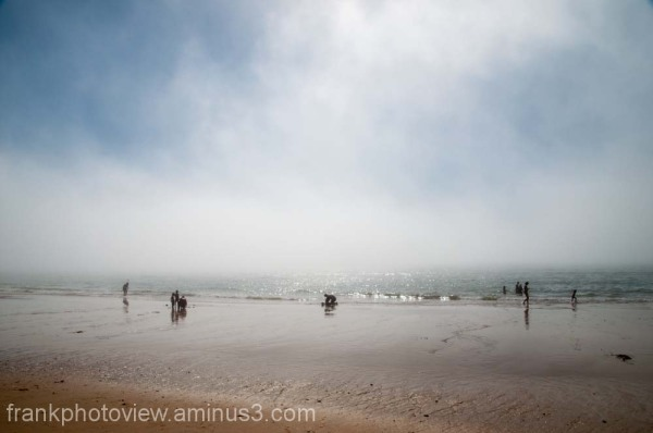 a day at the beach III w/ fog