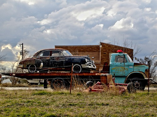 Abandoned vintage auto