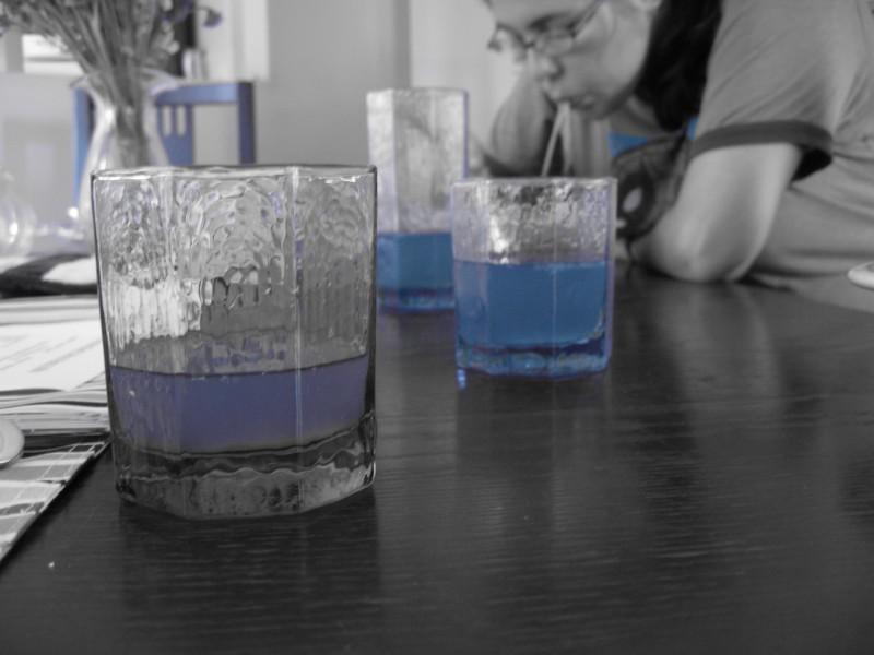we turned lemonade blue just for us