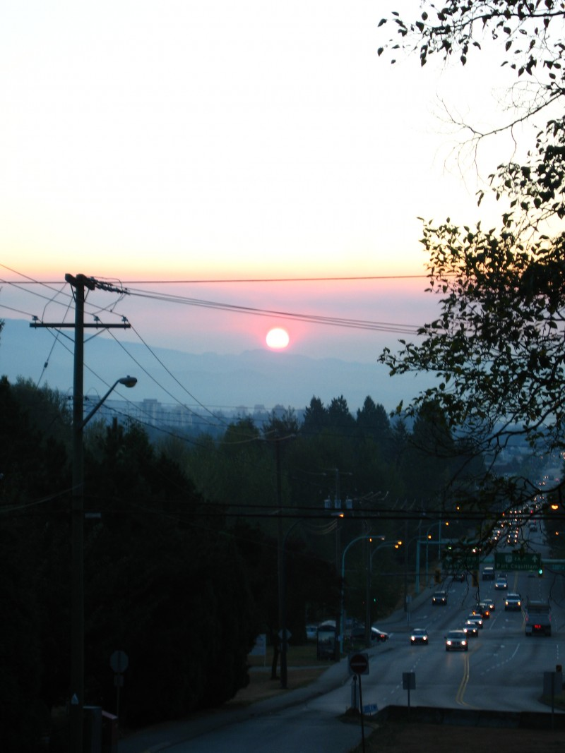 sunrise from my house