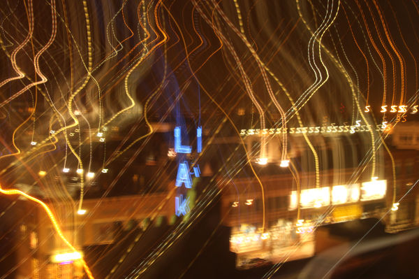 camera motion leaves light trails