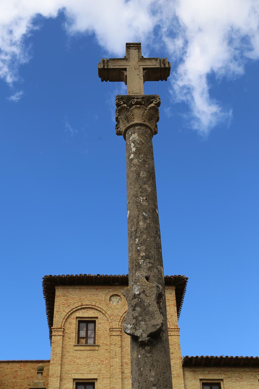Old cross seen in Olite Spain