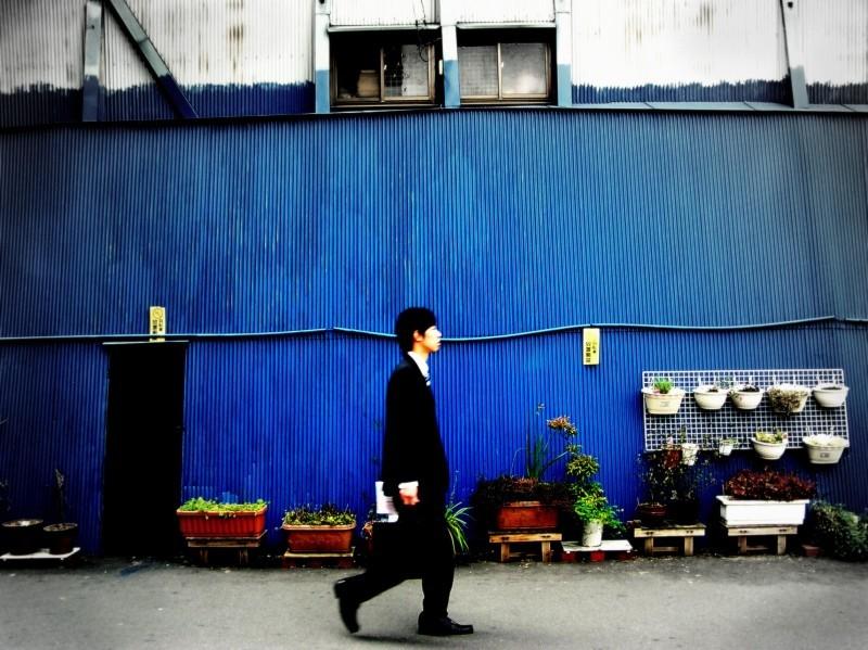 umeda chayamachi osaka salaryman japan