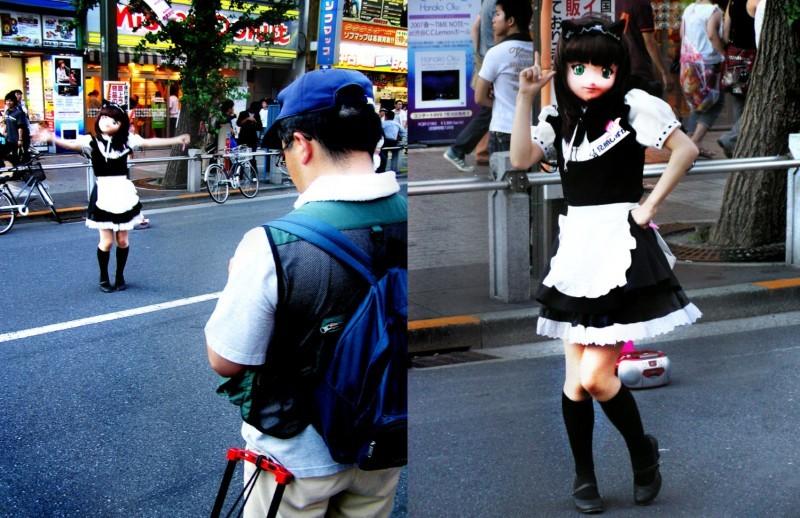 Akihabara otaku model Tokyo Japan