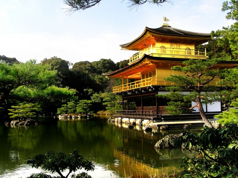 Kinkakuji temple Kyoto Japan golden pavillion