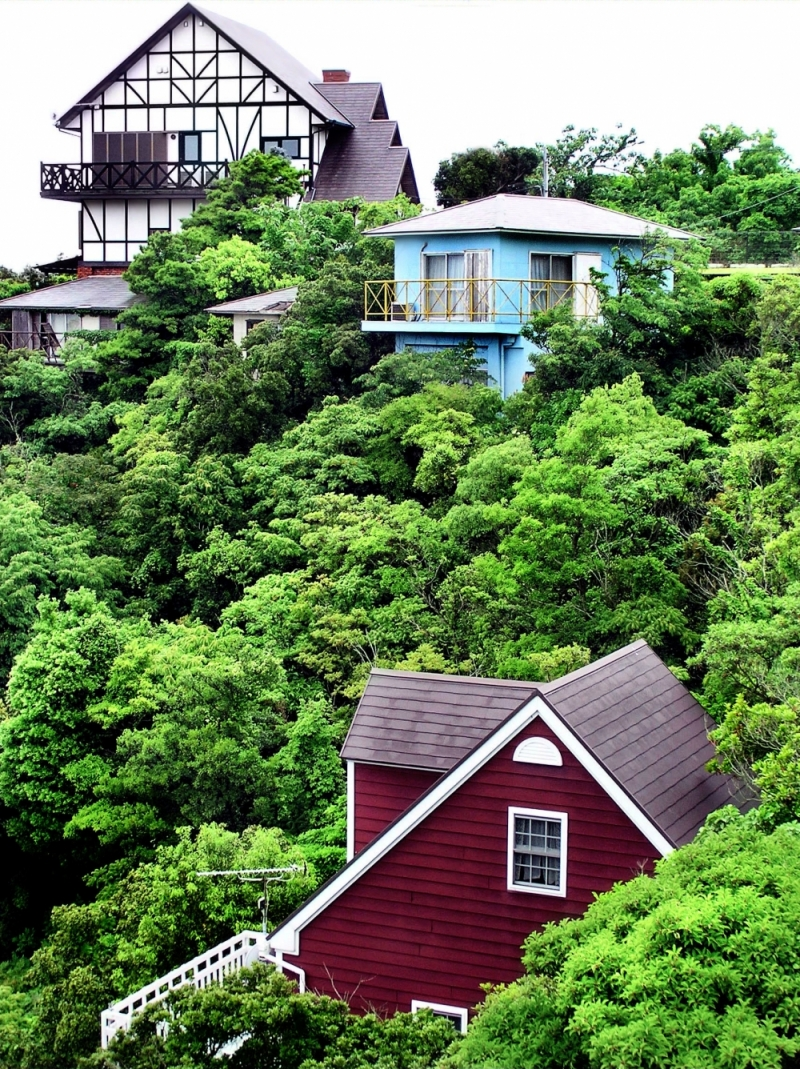 Wakayama sea coast house greenery Japan