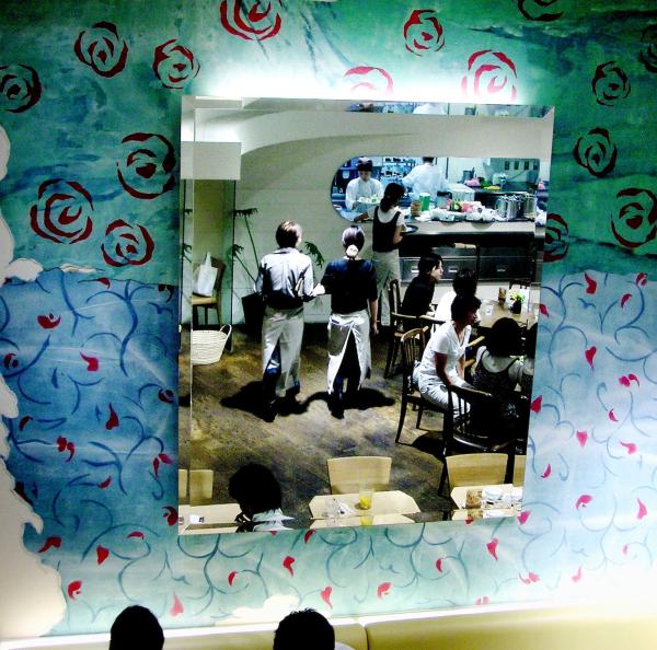 café workers Shinsaibashi Osaka kitchen