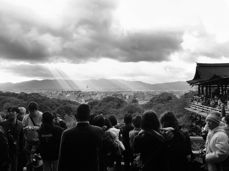 Kiyomizu-dera Japan Kyoto view tourist