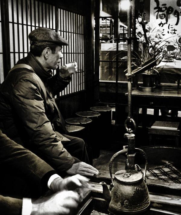 Hida Takayama sake brewery shop Gifu tourist irori